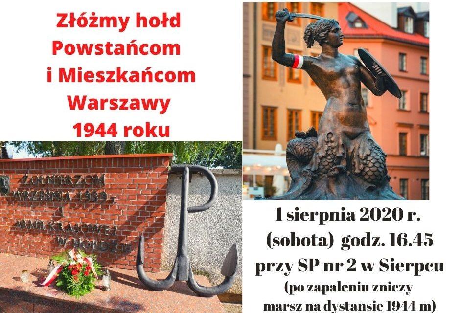 Złóżmy hołd Powstańcom i Mieszkańcom Warszawy 1944