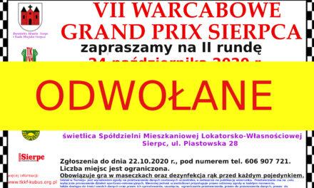 II runda VII Warcabowego Grand Prix Sierpca ODWOŁANA