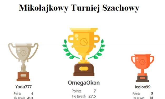 [2020.12.05] Mikołajkowy Turniej Szachowy